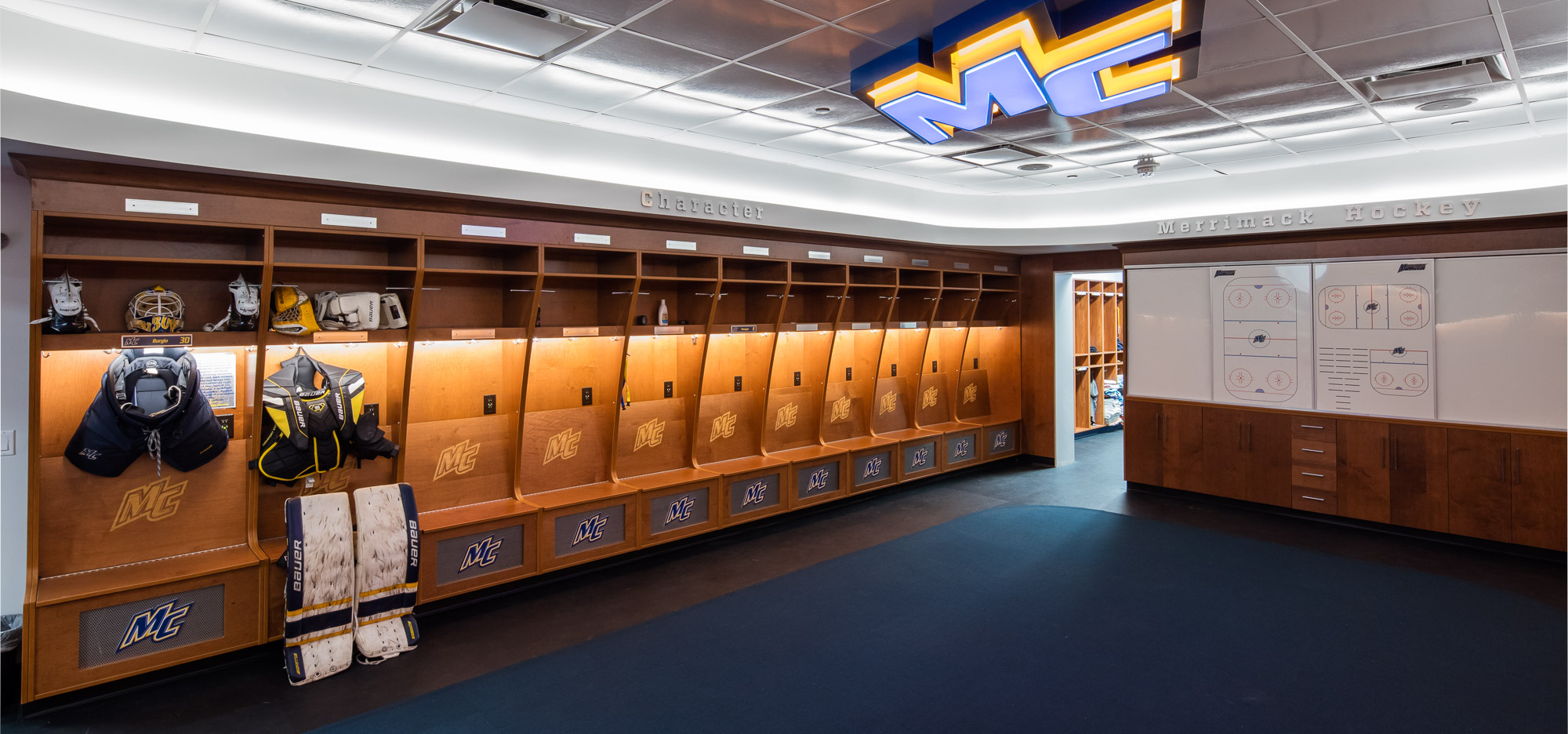 Merrimack College Hockey Locker Rooms Channel Building